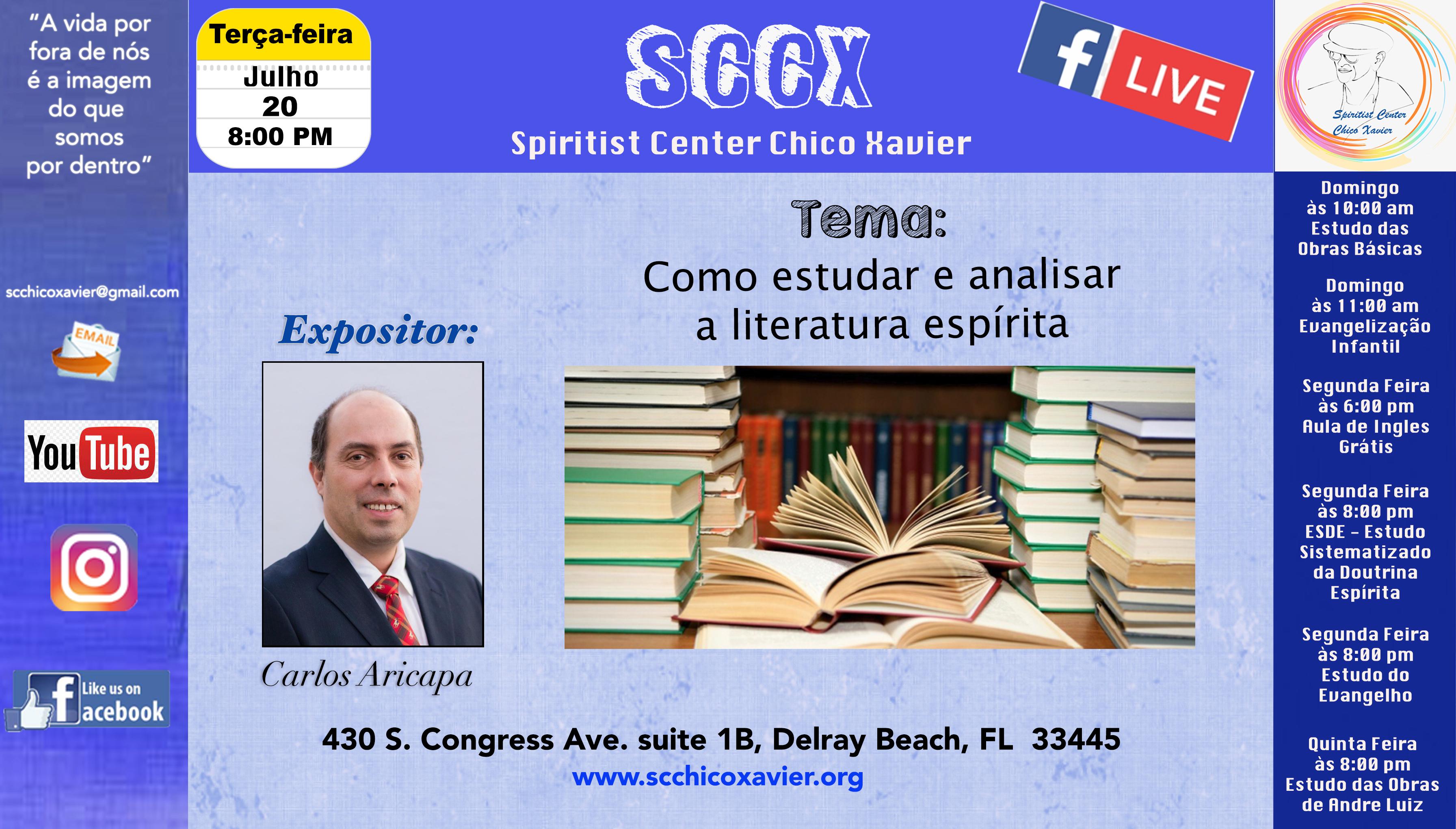 Carlos Aricapa - Como estudar e analisar a literatura espirita