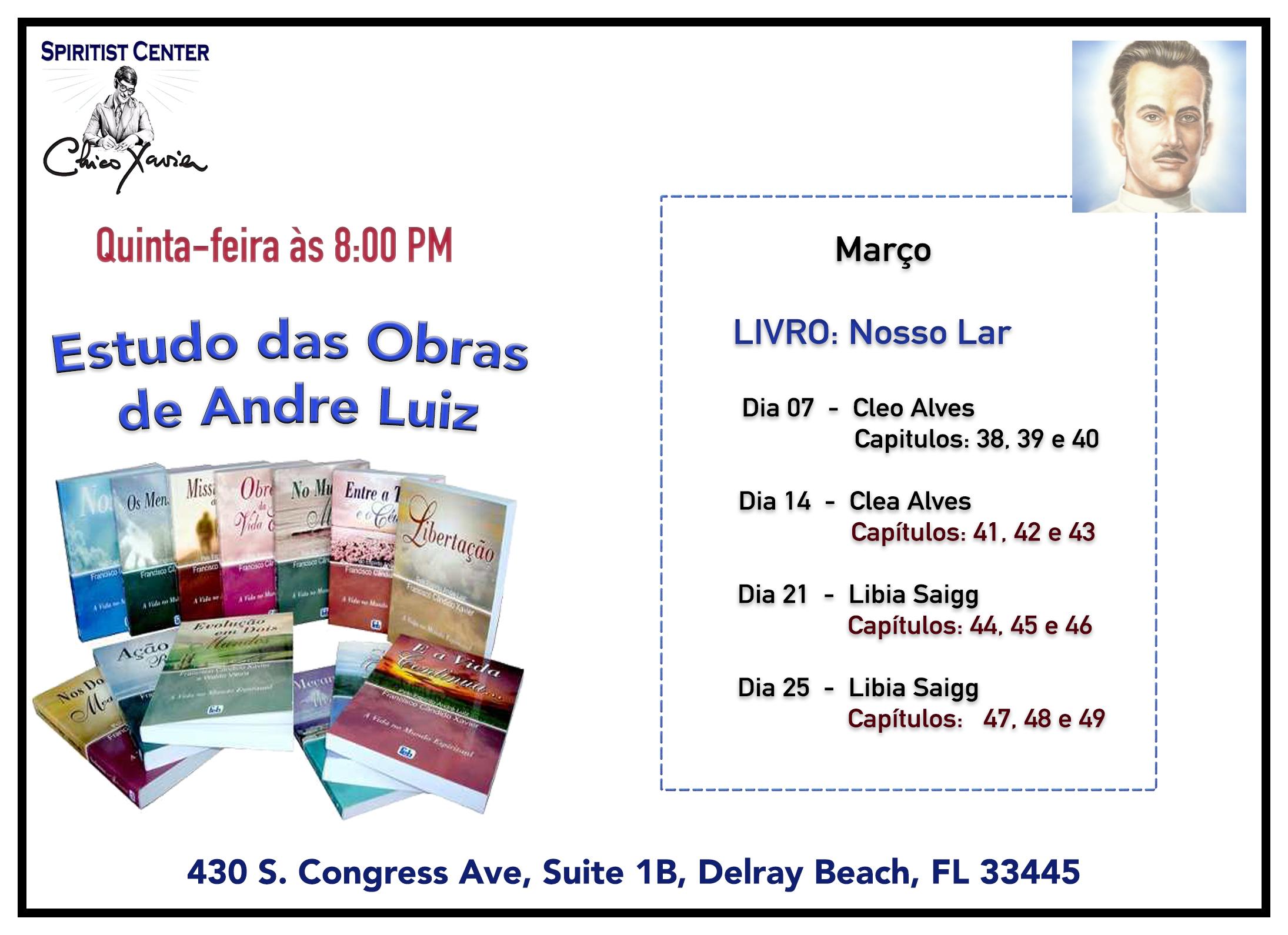 Estudo das Obras Básicas de Andre Luiz Março