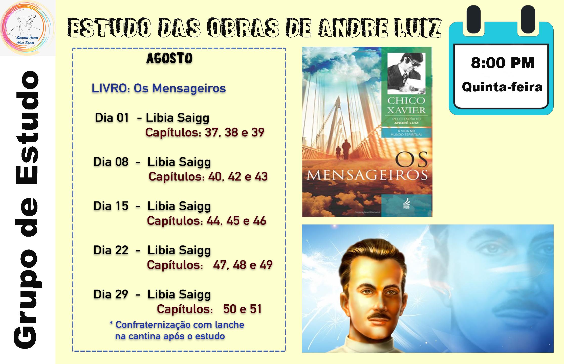 Estudos das Obras de Andre Luiz Agosto