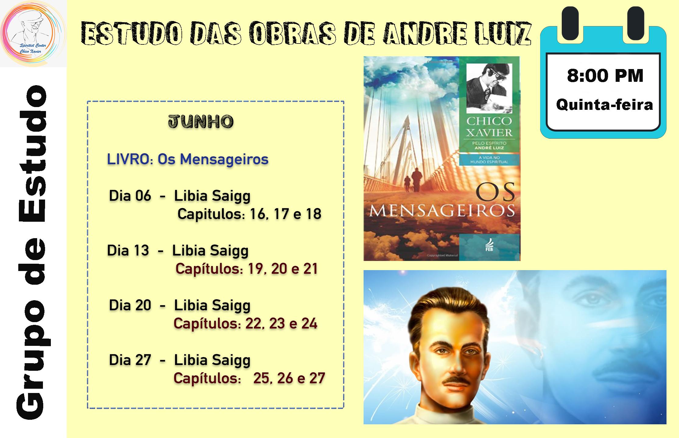 Estudos das Obras de Andre Luiz Junho