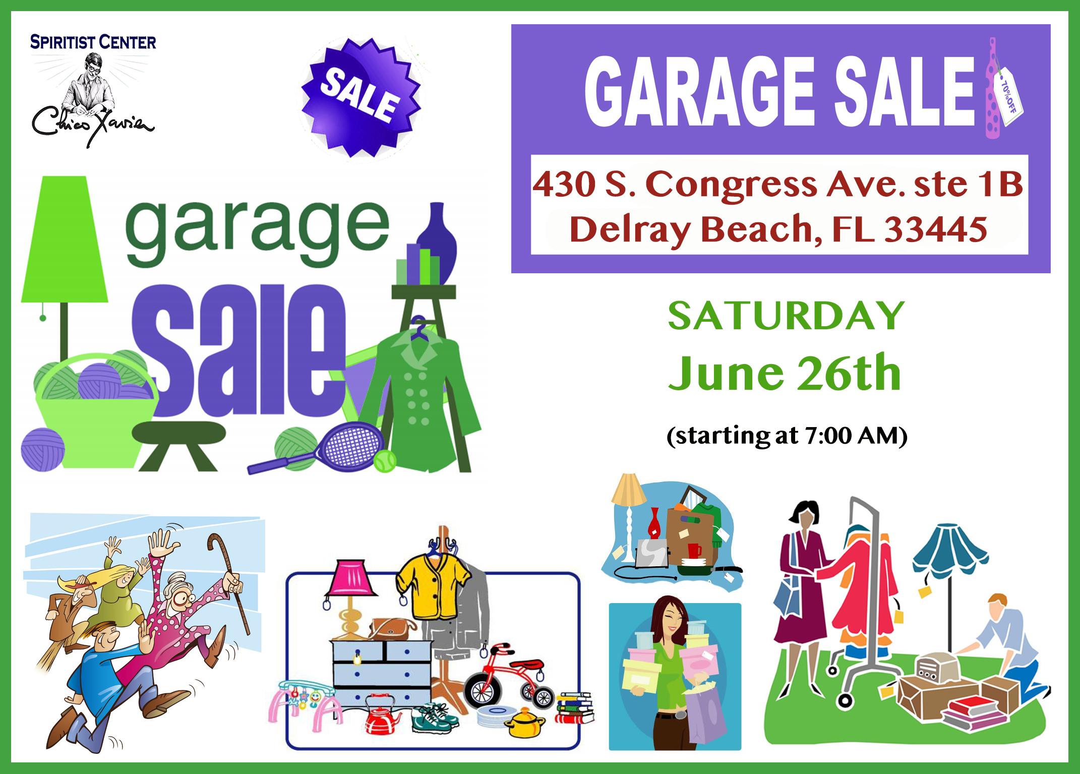 Garage sale June 26th framed
