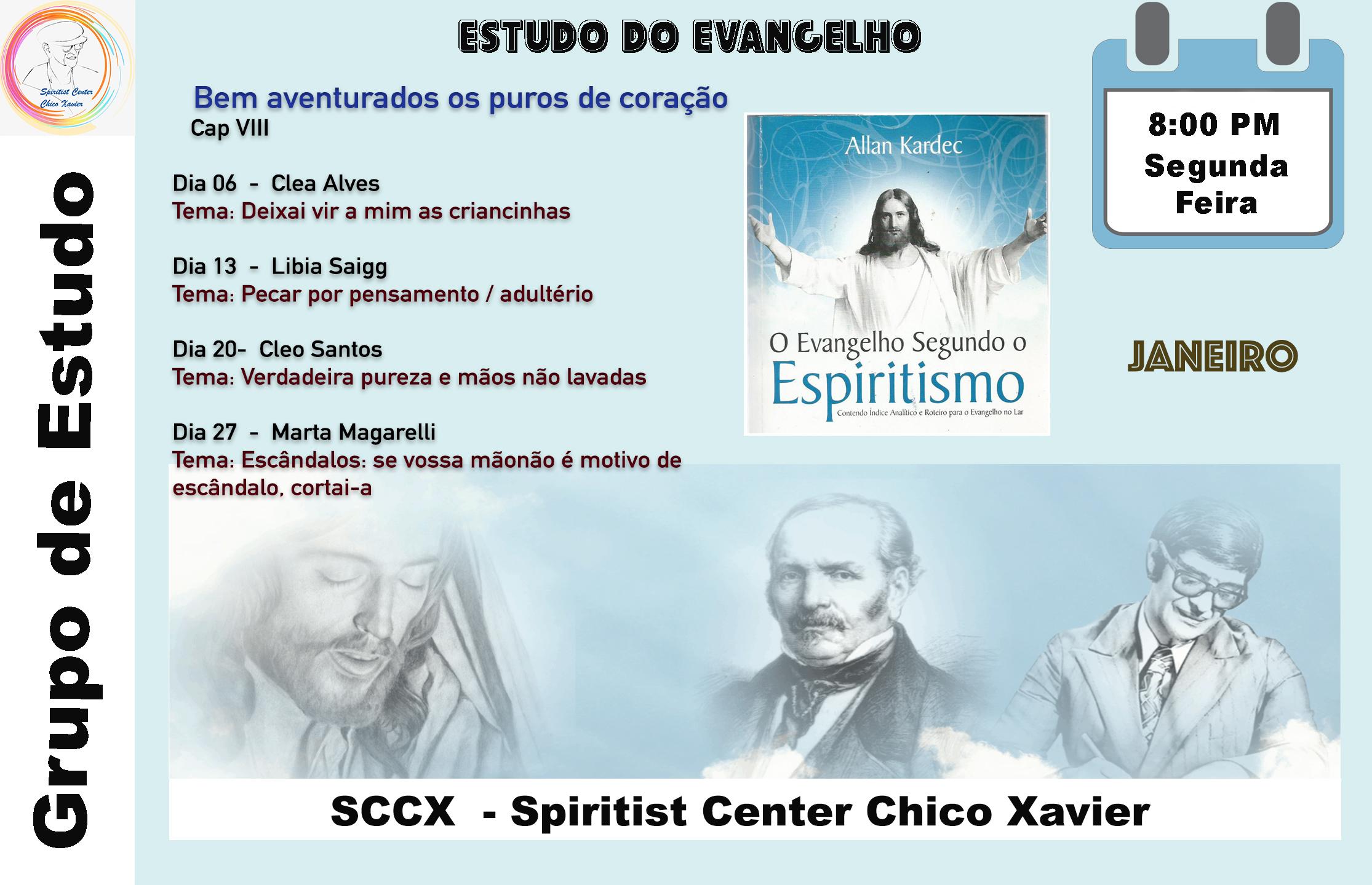 Grupo de Estudo - Estudos do Evangelho Jan 20