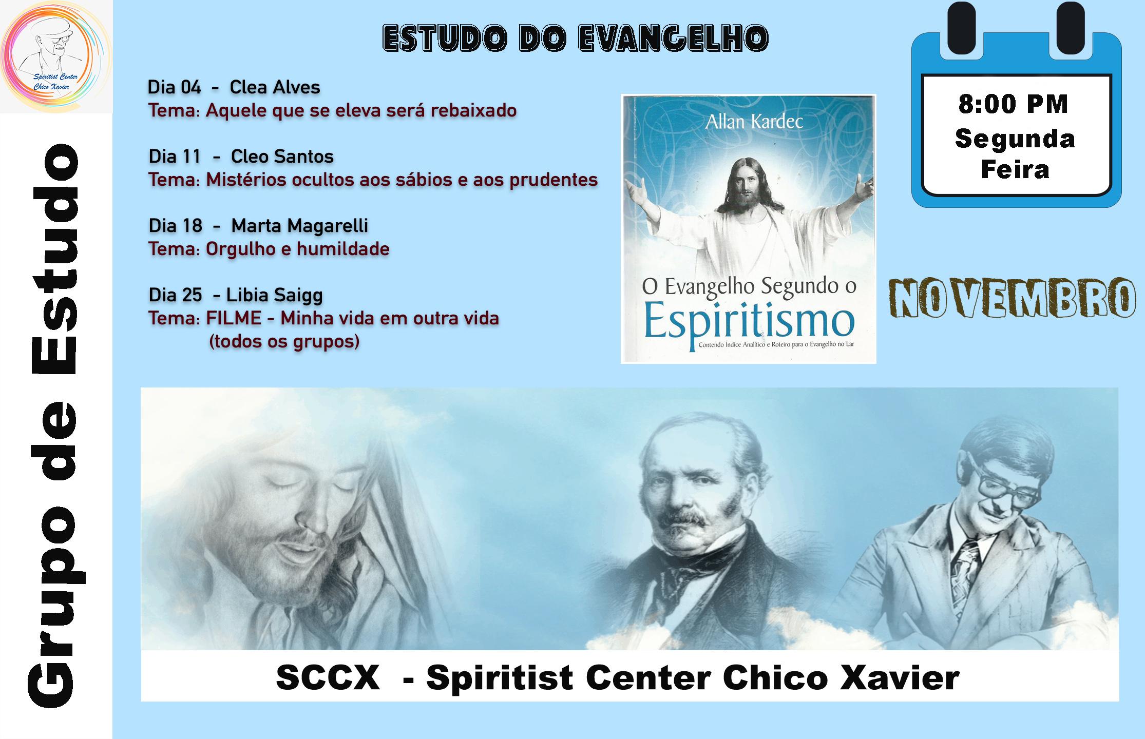 Grupo de Estudo - Estudos do Evangelho Novembro 11