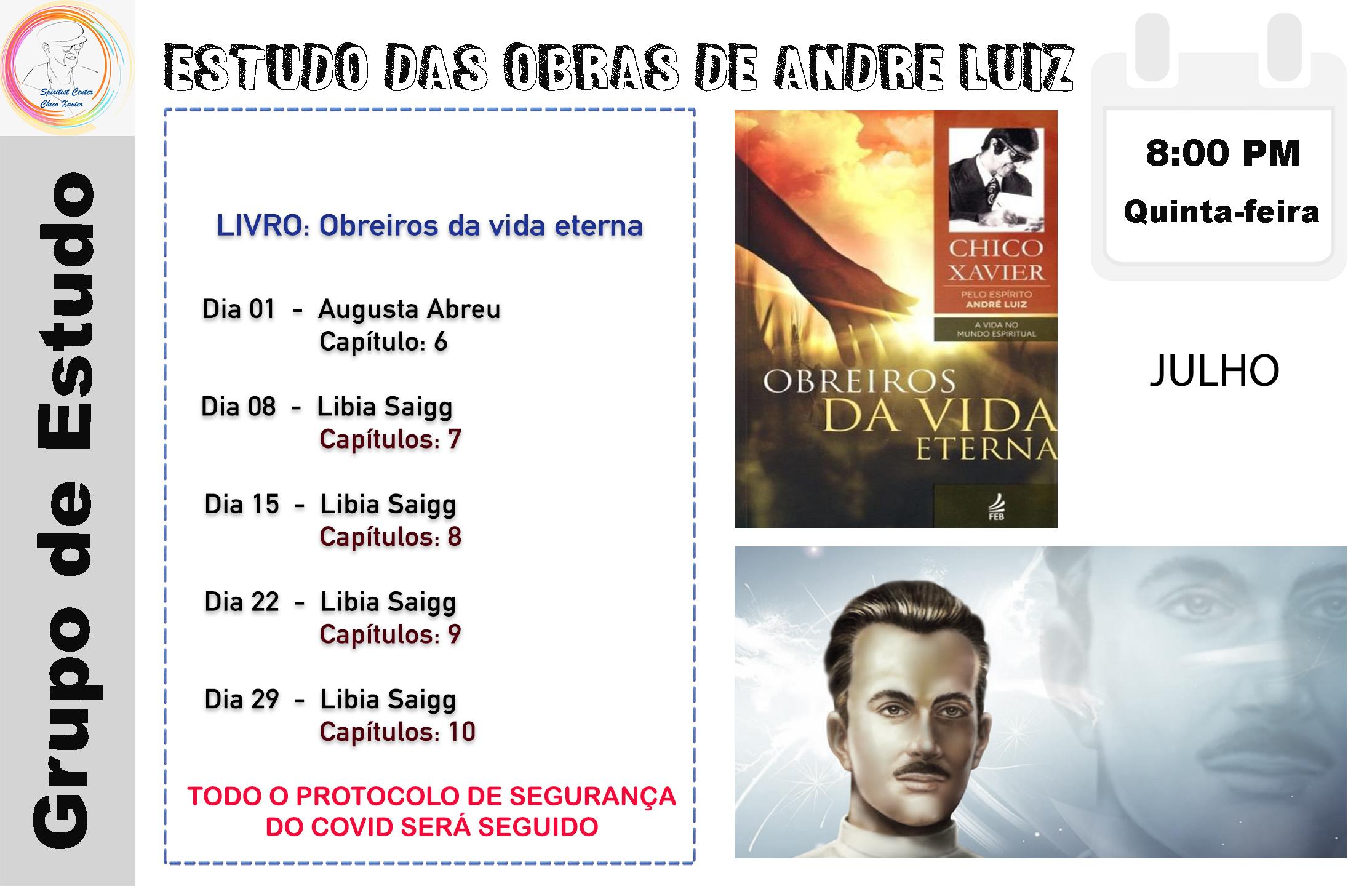 Obras de Andre Luiz Julho 21